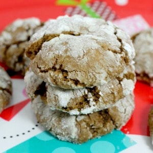 Easy recipe for gingerbread crinkle cookies. One of my new favorite Christmas cookie recipes for holiday cookie exchanges!
