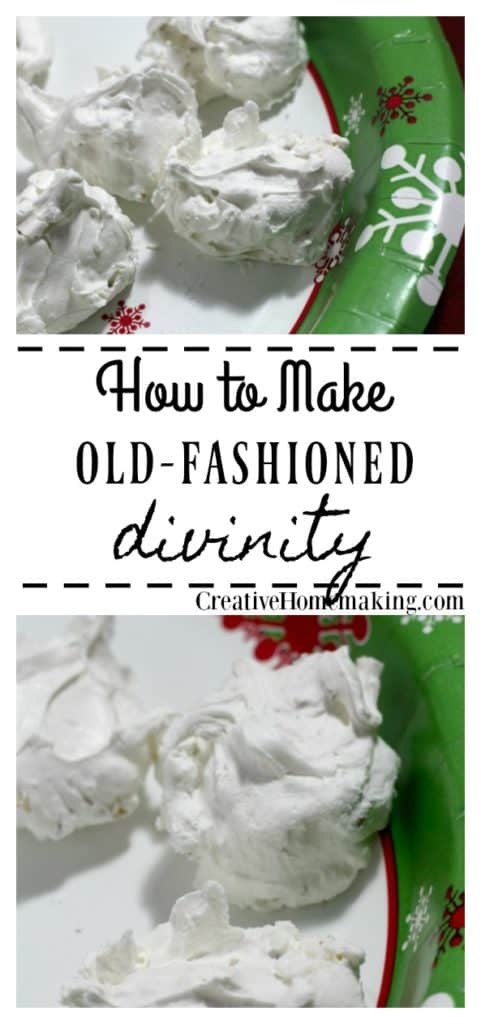Easy old-fashioned divinity recipe that would make your grandma proud. Great holiday recipe to give as a Christmas gift.