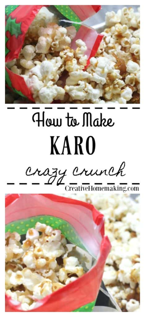 Easy Karo crazy crunch recipe that was popular in the 1970's. It is an easy delicious caramel corn with almonds and pecans added for extra crunch. Yum!