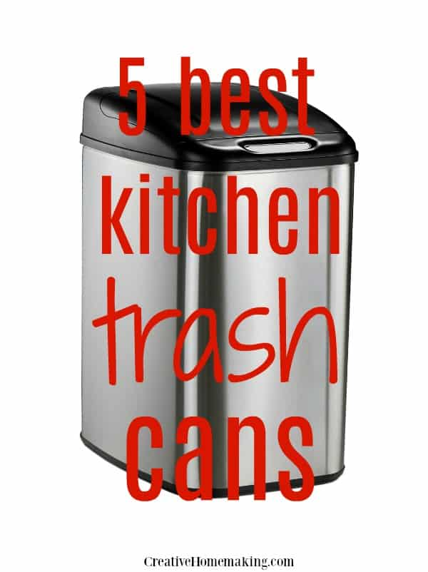 The best 5 kitchen trash cans of 2019 reviewed. The best stainless steel model, best no touch, best for small kitchens, best decorative, and best value.