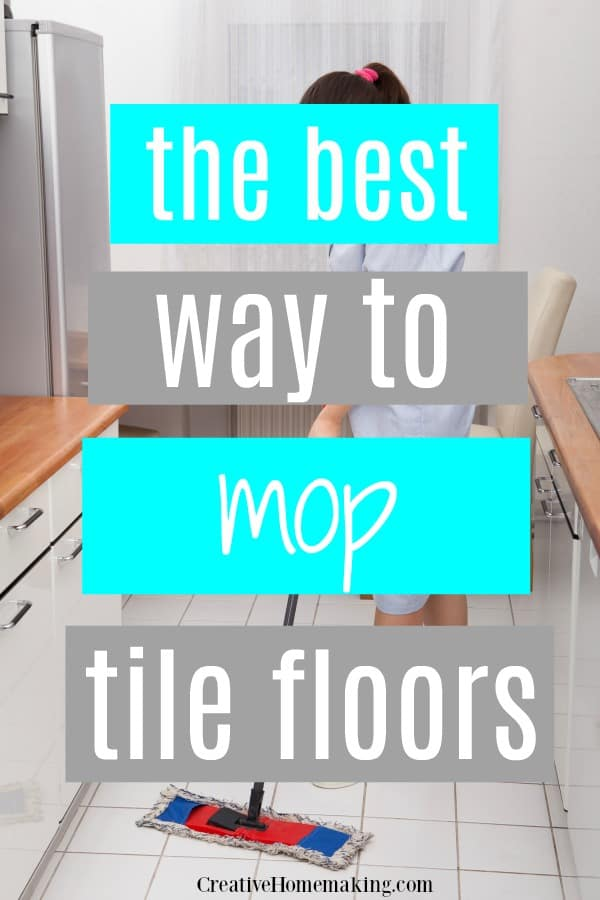 The Best Way To Mop Tile Floors With Vinegar, And The Best Mop To Use