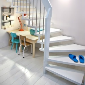 Four creative under stairs decorating ideas to help you reclaim that dead space underneath your stairs.