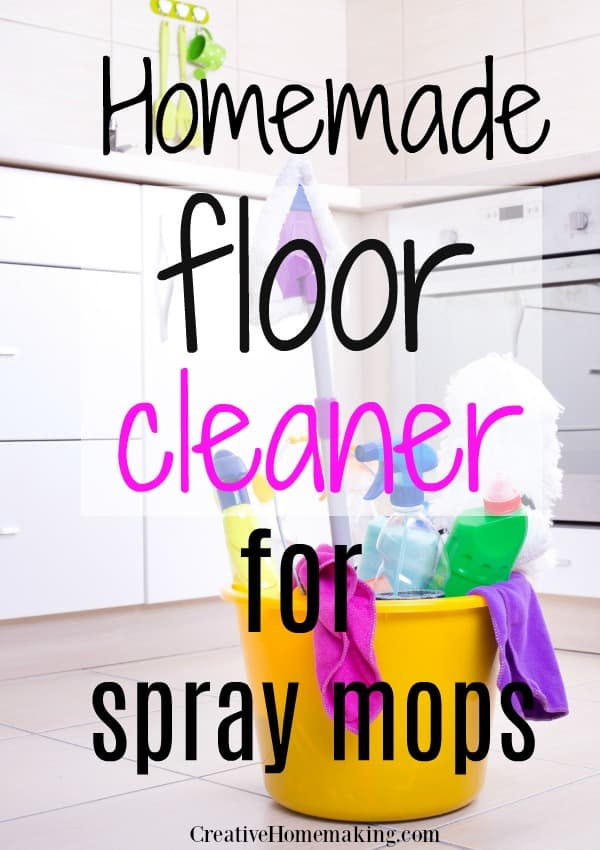 Easy DIY recipes for the best homemade floor cleaners for spray mops. Some of my favorite kitchen floor cleaning hacks!