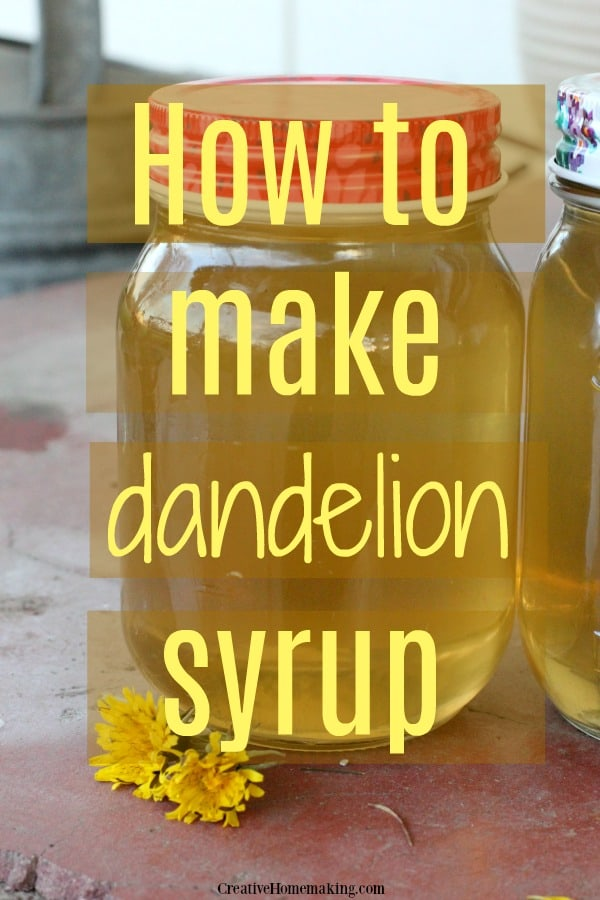 Easy recipe for dandelion syrup