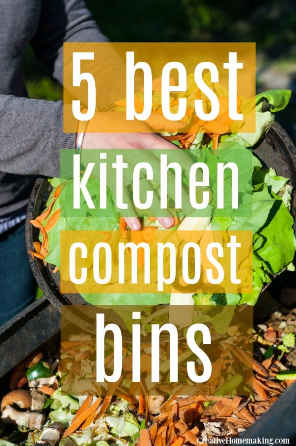 5 best kitchen compost bins for your countertop or under your kitchen sink. Easy compost for beginners!