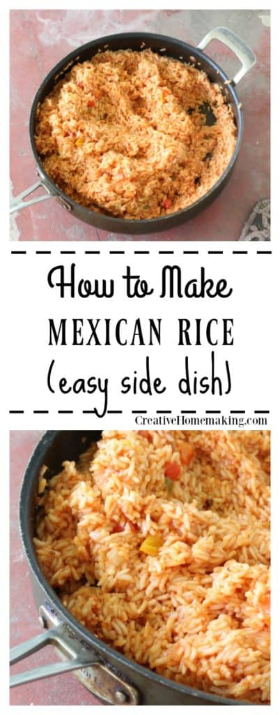 Recipe for easy mexican rice. Easy side dish for cookouts or bbq.