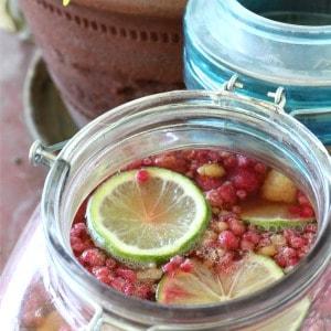Easy recipe for raspberry lime kombucha