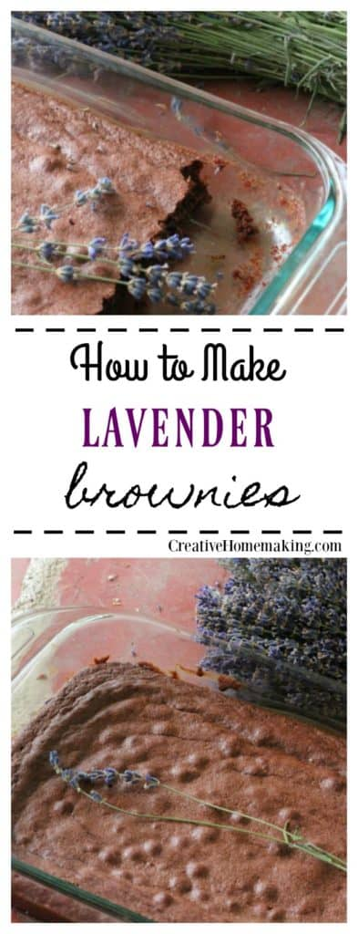 Easy recipe for making lavender brownies. One of my favorite ways to bake with dried lavender!