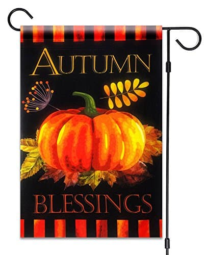 Fall Pumpkin Decorative Garden Flag