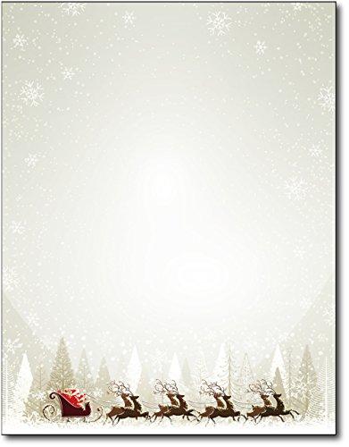 Santa & Reindeer Christmas Paper - 80 Sheets