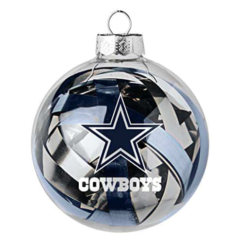 NFL Dallas Cowboys Large Tinsel Ball Ornament
