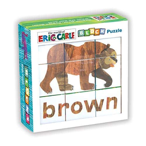 Mudpuppy The World of Eric Carle Brown Bear Puzzle, Ages 1-4, Learn Colors & Animals, Based on