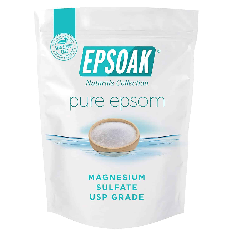 Roll over image to zoom in Epsoak Epsom Salt - 2 lbs. USP Magnesium Sulfate