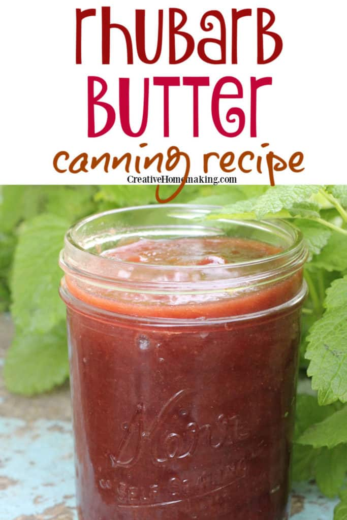 Easy rhubarb butter to make from fresh rhubarb from your garden. Great canning recipe for beginners!