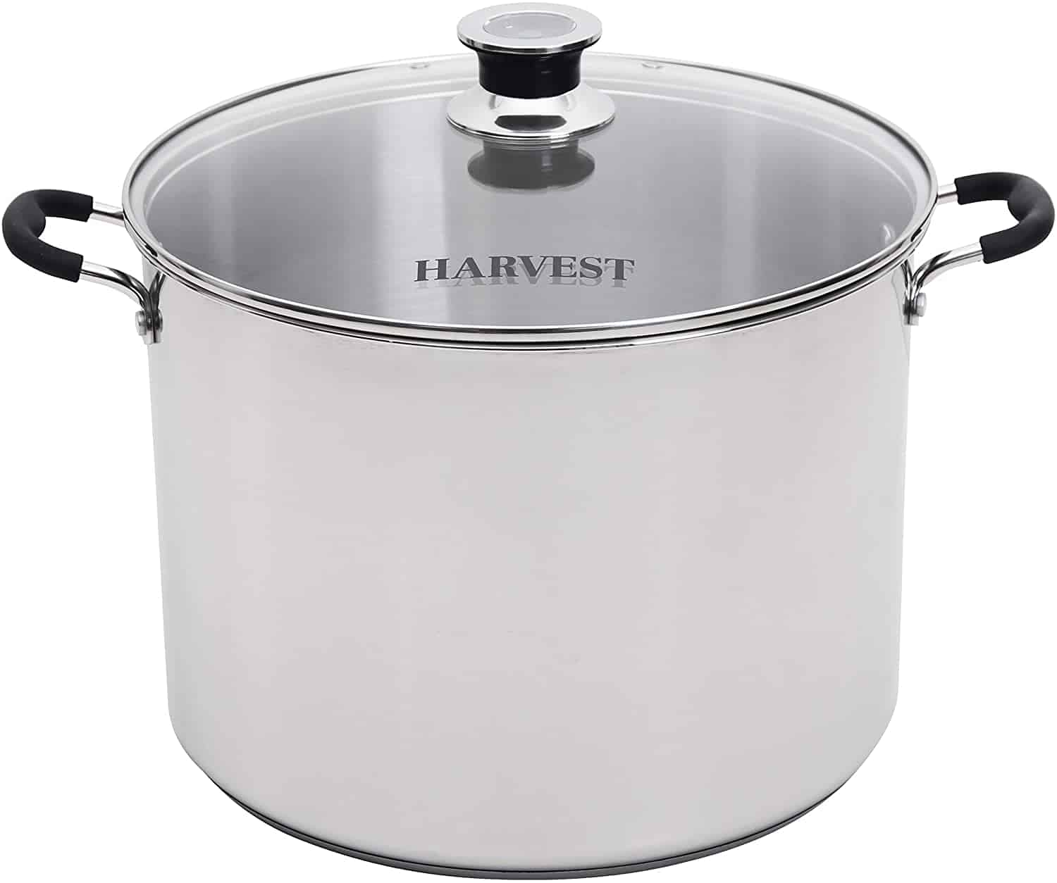Roots & Branches VKP1130 Harvest Stainless Steel Multi-Use Canner with Temperature Indicator, Holds 7 Quart Jars, 20 Quart Liquid Capacity