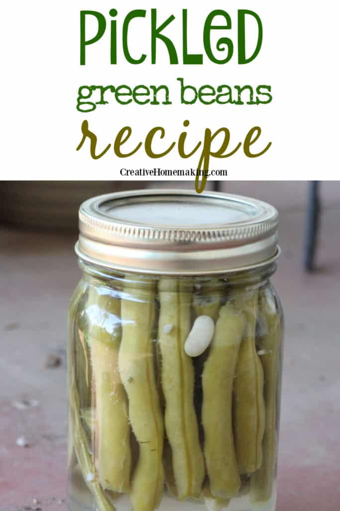 Easy pickled green beans recipe (dilly beans) for canning.