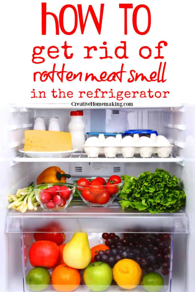 Easy DIY tips for getting rotten smell out of the fridge! How to successfully fight bad odors with homemade and store bought fridge deodorizers.
