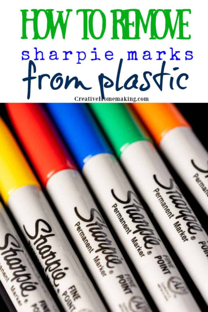 Easy DIY tips for removing sharpie or permanent marker from plastic.