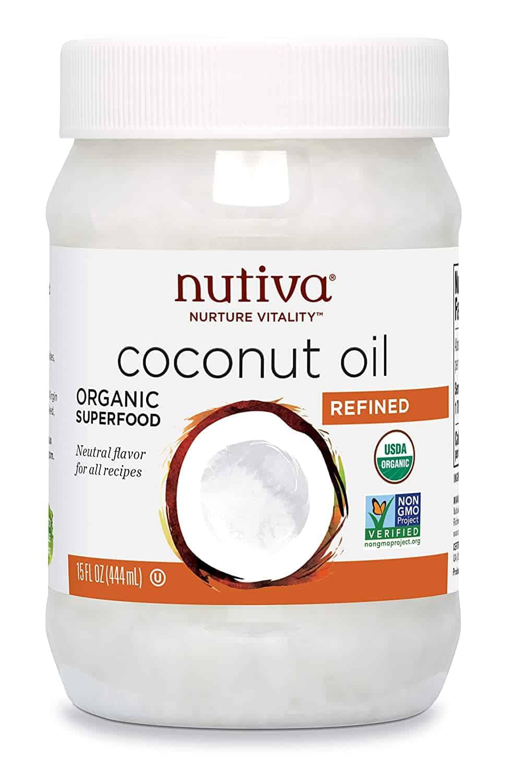 Nutiva Organic, Steam Refined Coconut Oil from non-GMO, Sustainably Farmed Coconuts, 15 Fl Oz