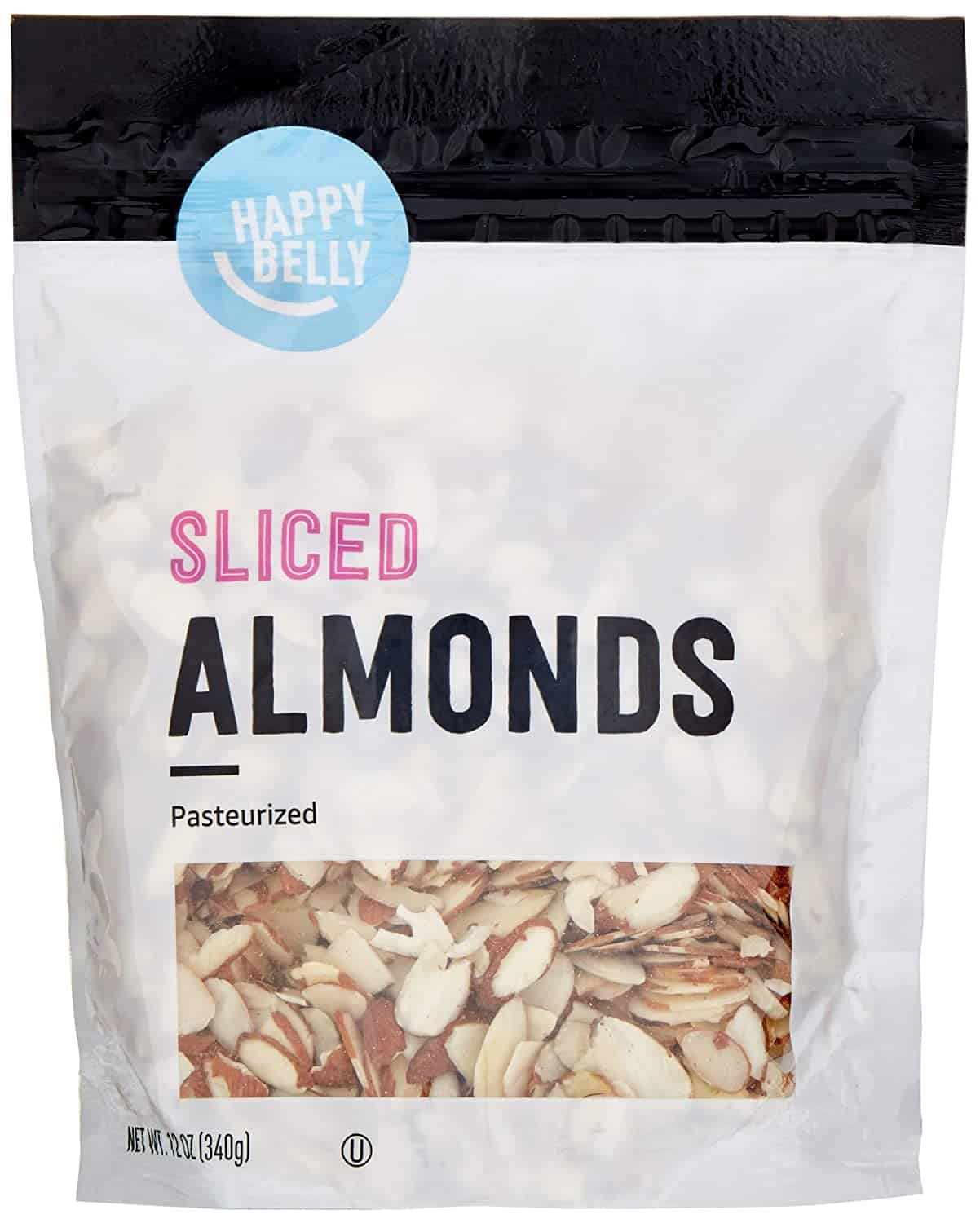 Happy Belly Amazon Brand Sliced Almonds, 12 Ounce