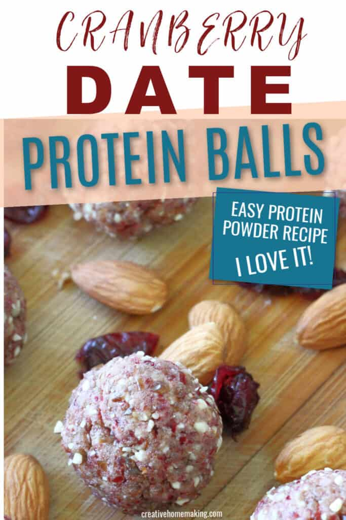 These easy no bake cranberry date protein balls are easy to make and provide instant energy between meals and before exercise workouts.