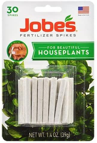 Jobe's Indoor Beautiful Houseplants Fertilizer Food Spikes - 30 Pack