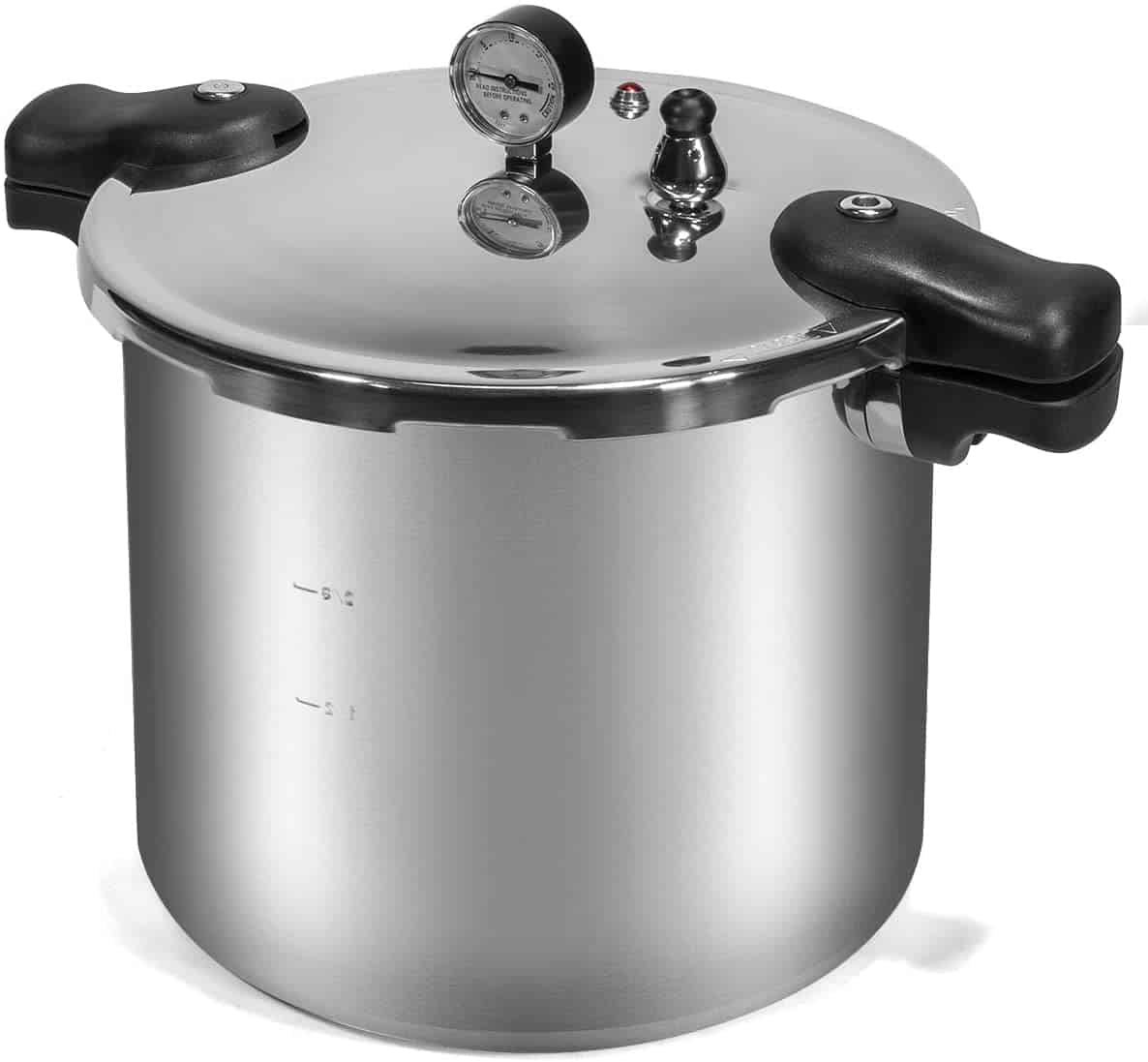 Barton Pressure Canner 22-Quart Capacity Pressure Cooker Built-in Pressure Gauge