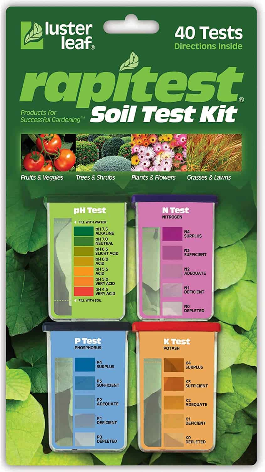 Rapitest Test Kit for Soil pH, Nitrogen, Phosphorous and Potash