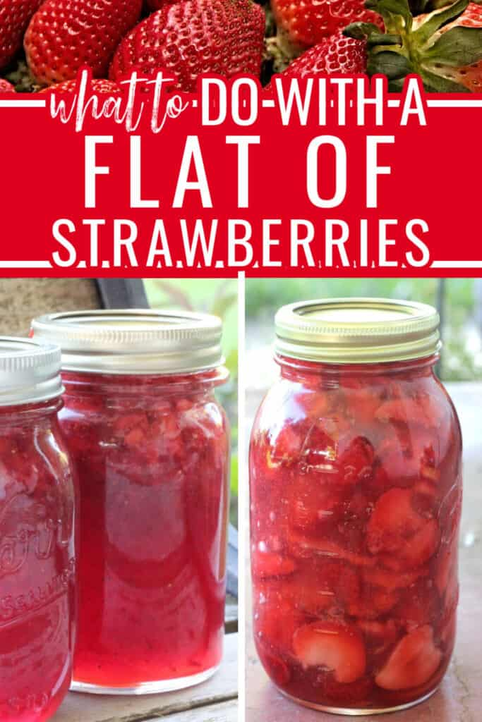 It's strawberry season and you don't know what to do with a flat of strawberries? Freezing tips & 6 different canning recipes for preserving strawberries.
